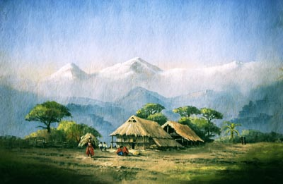 Luitelbangjang, pastel by Jenny Keal