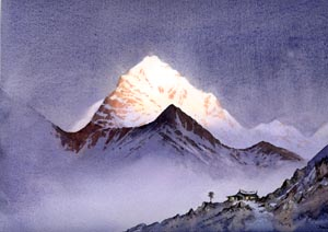 Tengi Ragi Tau, watercolour by David Bellamy