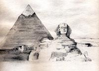 The Sphinx, sketch by Jenny Keal