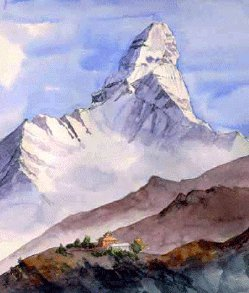 Ama Dablam, sketch from Jenny's journal