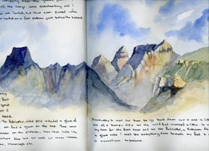 cathedral peak sketch