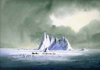 Ice Castle watercolour by David Bellamy