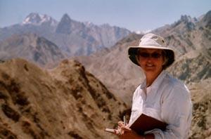 Jenny Sketching in Ladakh