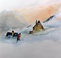 Spindrift, sketch by David Bellamy